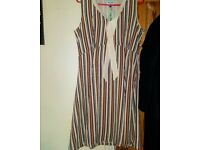COLOURFUL STRIPED VINTAGE FASHION DRESS SIZE MEDUIM TO LARGE BRAND NEW WITH TAGS