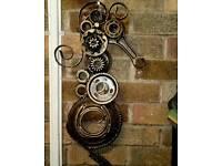 Large metal seahorse wall sculpture