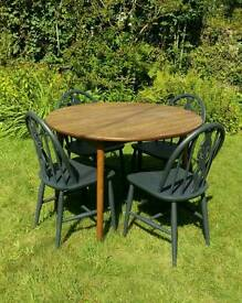 Vintage dining table and chairs