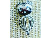 Silver plate kitty kat pendent