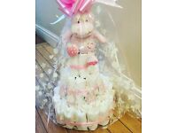 Baby girl nappy cake / perfect for baby shower / christening gift