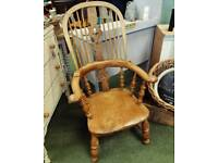 Antique early 18th century smokers chair