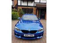 2013 (63) BMW 435d xDrive Auto M Sport Coupe   Estoril Blue Metallic   Pro Media   19 inch BMW 442M