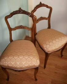 Pair Of Antique French Style Upholstered Chairs