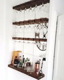 Handmade Wine Glass Racks.
