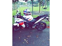 125cc Motorcycle. Honda CBR125R. Brand new condition! No damage done and runs perfectly