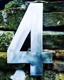Stainless steel door numbers/letters