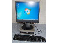 Dell Optiplex SX280 SFF Win 7 Pro complete with Sony 19in TFT Monitor