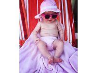 Pink Ido baby girl sun hat