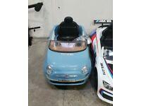 Fiat 500 6V Replica Smooth Blue Powered Ride On Car (929/9991) No110120