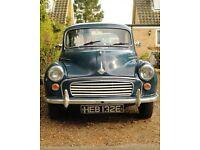1967 Blue Morris Minor 1000