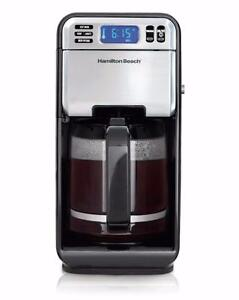 Hamilton Beach 12-Cup Digital Coffee Maker, Stainless Steel