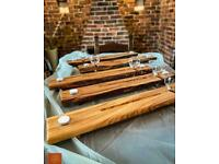 Live edge Luxurious Italian Olivewood bath boards