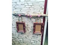 Driftwood photo display