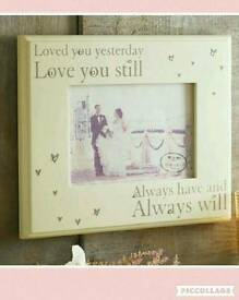 Loved You Yesterday, Love You Today Frame
