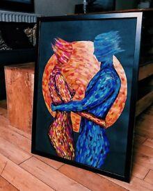 Acrylic on paper. 59.4 x 42 cm.