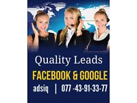 Get leads from FaceBook and Google - Call today for free digital strategy
