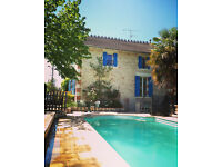 Reduced £ SW France beautiful stone house with river access and pool +fully equipped separate studio