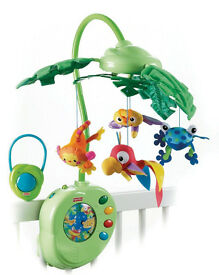 Fisher-Price Rainforest Peek-A-Boo Leaves Musical Mobile - great condition!
