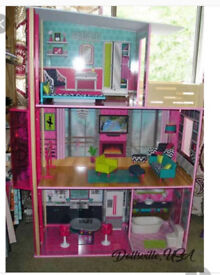 wooden dolls house for barbies