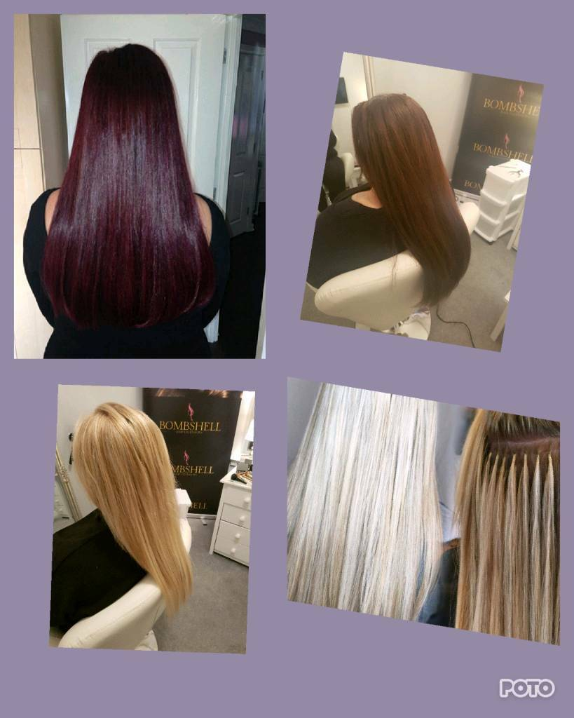 Bombshell hair extensions glasgow prices from 125 micro nano image 1 of 6 pmusecretfo Gallery
