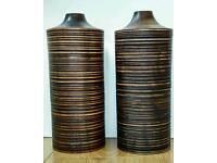 Matching Wood Vases