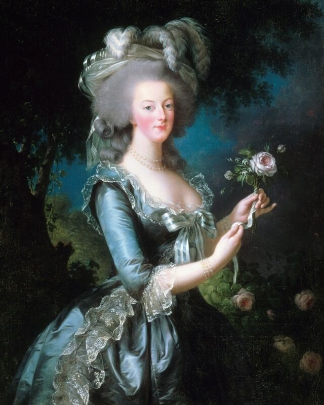New 8x10 Photo: Rose Portrait of Marie Antoinette, Queen of France and Navarre
