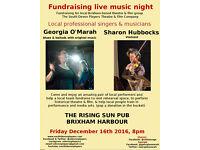 Live music singing violin - fundraiser Brixham