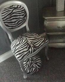 chair and stool zebra stunning
