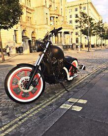 Kawasaki VN750 bobber Chopper Hardtail Low Rider Custom Motorcycle Motorbike