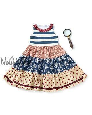 Girls Matilda Jane Platinum Lincoln Tiered Tank Dress size 10 NWOT