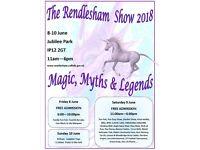 The Rendlesham Show 2018 9th June 11:00am - 6:00pm Jubilee Park Rendlesham IP12 2GT