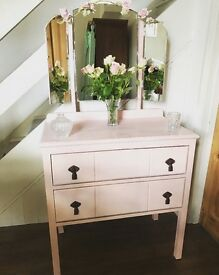 Edwardian Oak Shabby Chic Dressing Table