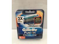 Gillette Fusion Proglide Manual Razor Blades pack of 4