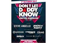 2x Don't Let Daddy Know UK tickets
