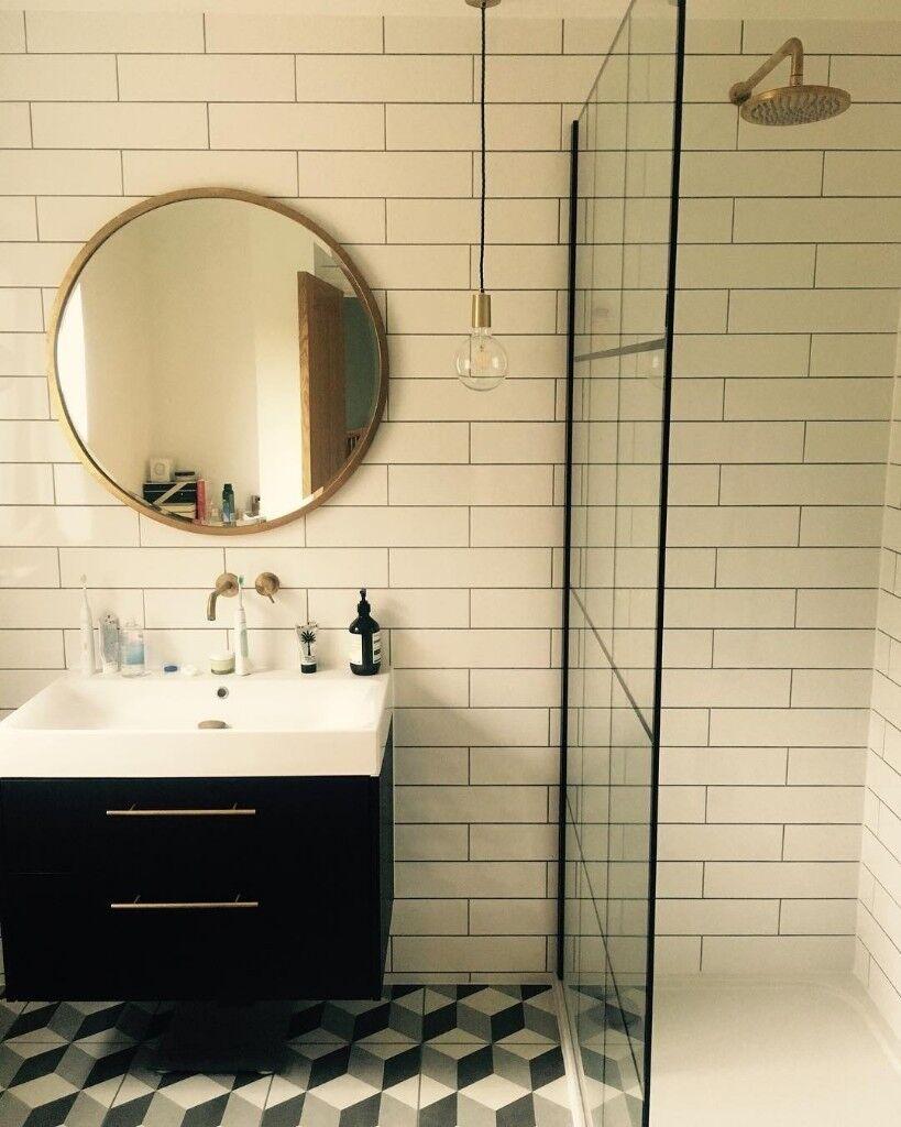 170 White Gloss 30x10cm Metro Flat Tiles 5 Square Metres Similar To Linear Topps
