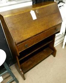 Vintage writing bureau with key