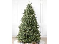 Balsam Hill 8ft Royal Blue Spruce Artificial Christmas Tree with lights (brand new, still in box)