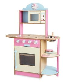 LARGE PINK WOODEN KITCHEN TOY BRAND NEW IN BOX