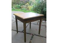 Small Wooden Square Occasional Table