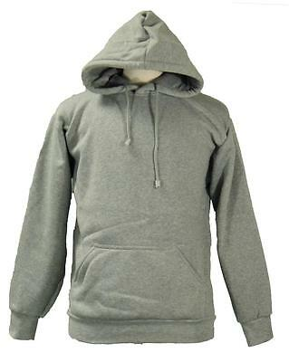 New Men's Gray Access 100% Polyester Pullover Heavy Weight  Hoodie Sweatshirt