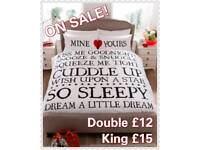 Mine & Yours Duvet Sets Double & King