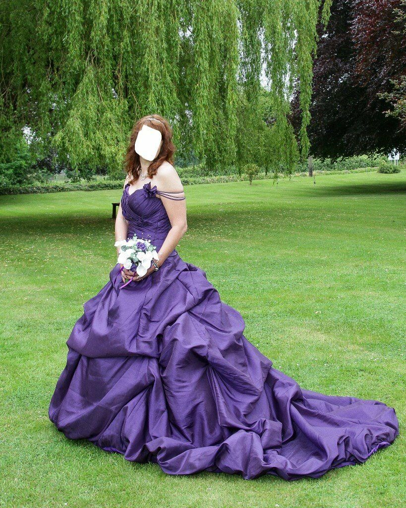 Gothic Wedding dress Cadbury purple. Worn once, excellent condition ...