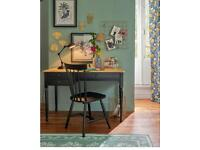 La Redoute solid wood office desk / dressing table with black legs and three draws