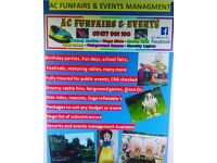 Ac funfairs and events for all your fundays bouncy castle hire