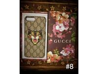 Gucci iphone 7 7 plus 8 8plus phone cases with boxes