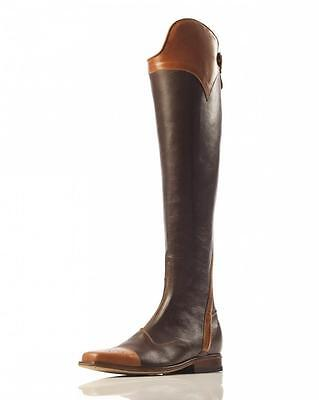 Two Tone Chocolate With Cognac Top Horse Riding Hunter Jumper Dress Boot UK 3-12