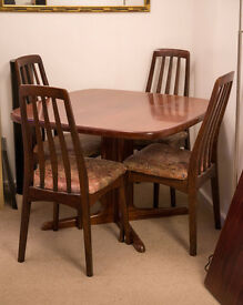 REDUCED - Skovby Danish Rosewood Dining/Lounge Set (Table, Chairs, Dresser, TV Unit & Nest Tables)
