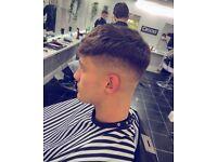 Free men's haircuts.