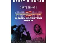 2x Standing Krept and Konan Tickets